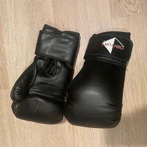 Black Kick Boxing Gloves size Small